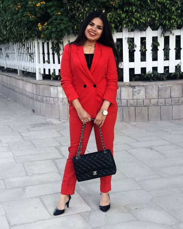SpringSummer 2018 Trend Guide: Cherry Red Suit