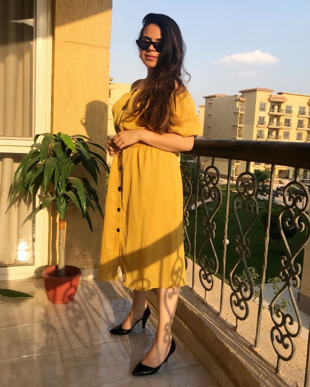Burned Mustard Obsession and it this dress is from Zara
