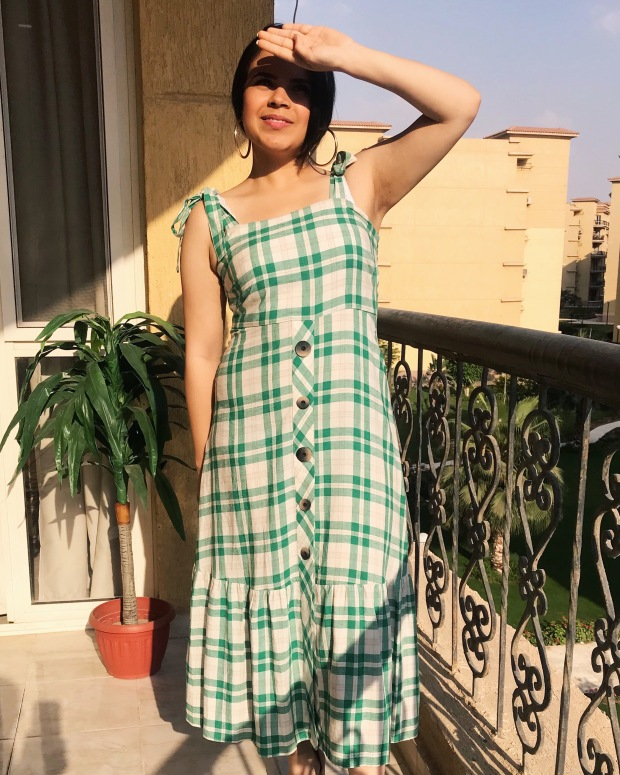 Feeling Myself In This Checked Zara Dress